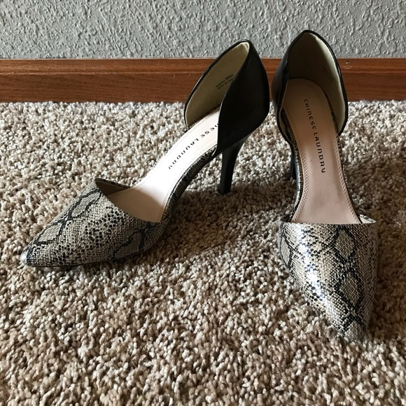 1c1e9a55773 Chinese Laundry snakeskin heels